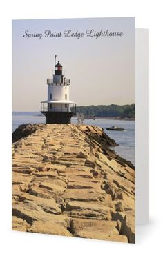 Bug Light Lighthouse Greeting Note Card, New England, Portland, Maine by…