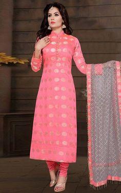 Silk Kurti Designs, Churidar Designs, Kurta Designs Women, Kurti Designs Party Wear, Stylish Kurtis Design, Stylish Dress Designs, Designs For Dresses, Stylish Dresses, Indian Fashion Dresses
