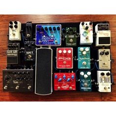 @toddcramer's pedalboard. Lovely selection of pedals.