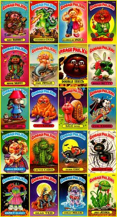 retro toy The joy of collecting Garbage Pail Kids and putting the stickers on your bedroom wall. Messy Tessy was my favorite Garbage Pail Kid! 1980s Childhood, My Childhood Memories, Retro Toys, Vintage Toys, Garbage Pail Kids Cards, Fraggle Rock, Ol Days, The Good Old Days, School