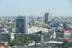 Bucureștiul văzut de pe Crystal Tower Bucharest, San Francisco Skyline, New York Skyline, Building, Travel, Viajes, Buildings, Destinations, Traveling
