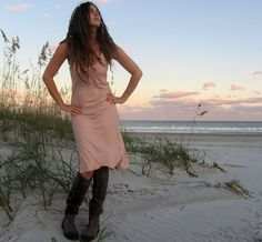 Slip Short Dress organic tissue cotton by gaiaconceptions on Etsy, $130.00