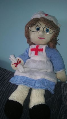 Designed my own nurse doll for my mother-in-law x