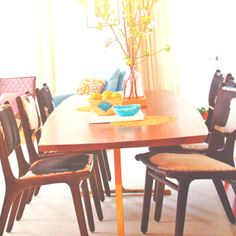 Cowhide dining chairs ❤