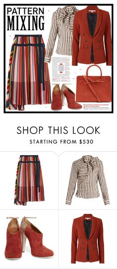 """""""Head-to-Toe Pattern Mixing"""" by jelena-topic5 ❤ liked on Polyvore featuring Sacai, Isabel Marant, Malone Souliers, Veronica Beard, Mansur Gavriel and patternmixing"""