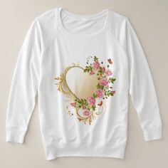 Victorian Heart Plus-Size Sweatshirt - valentines day gifts love couple diy personalize for her for him girlfriend boyfriend