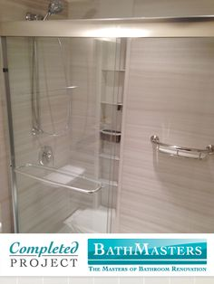 This Shower Was Renovated With The Kohler Choreograph Shower System.  Choreograph Brings Functionality And Organization