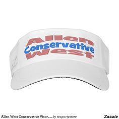 Allen West Conservative Visor, Pink & Blue Visor