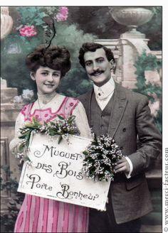 Carte Muguet des bois porte bonheur pour envoyer par La Poste, sur Merci-Facteur !