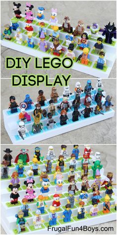 Lego Minifigure Display, Lego Display, Display Ideas, Woodworking Projects For Kids, Lego Projects, Wooden Projects, Mini Figure Display, Lego Creative, Lego Storage