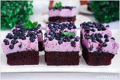 Polish Cake Recipe, Food Cakes, Blueberry, Cake Recipes, Sweets, Candles, Party, Cook, Bakken