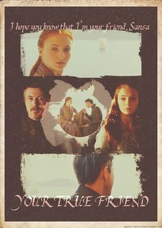 Low key ship 'em, Even though petyr is kind of a sh*t human being... Sansa - Petyr