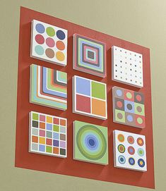 Super easy with small canvases or with Styrofoam. Create beautiful art for your home cheap