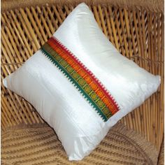 Beautiful Assam silk cushion cover