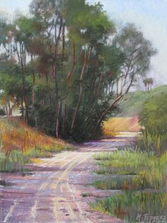 """A Regional Park by Marie Tippets Pastel ~ 27"""" x 23"""""""