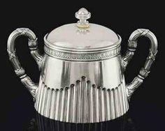 A Faberge Silver Sugar Bowl