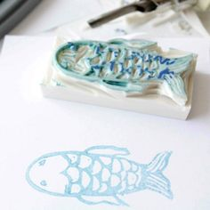 Ever wanted to make your own stamps? Here's a lovely tutorial! (photo via Ishtar Olivera)