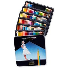 Prismacolor Premier Soft Core Colored Pencils, 132 Colored Pencils... ($90) ❤ liked on Polyvore featuring home, home decor and office accessories