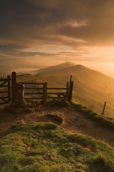 Edale Cross Peak District at dawn ~ England