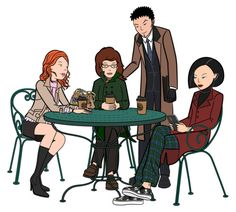 [Daria & Jane would be 31 now. Trent would be 36 and Quinn would be 29. Wow, can you believe it? I sure can't.]