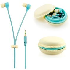 GEARONIC TM Stereo 3.5mm In Ear Earphones Earbuds Headset with Macaron... ($5.99) ❤ liked on Polyvore featuring earphones earbuds, samsung earbuds, iphone earbuds, blue earbuds and samsung smartphones