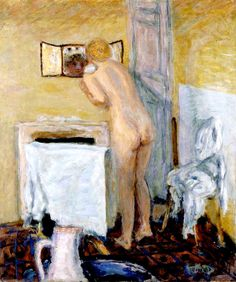 Nude before the Mirror (also known as Bather) / Pierre Bonnard - circa 1915
