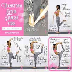 """1,888 Likes, 28 Comments - Yoga For The Non Flexible (@inflexibleyogis) on Instagram: """"Many of you have asked how to get into dancers pose or work towards it - so here it is! You can…"""""""