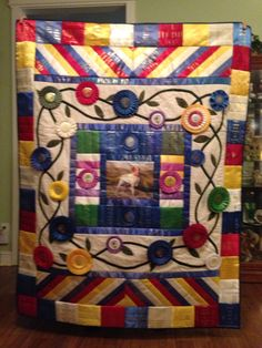 "50x65"" ribbon quilt"