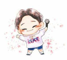 Chen, exo, and fanart image Fanart Kpop, Baekhyun Fanart, Exo Xiumin, Chanbaek, Kaisoo, Exo Chen, Kpop Exo, Chibi, K Pop