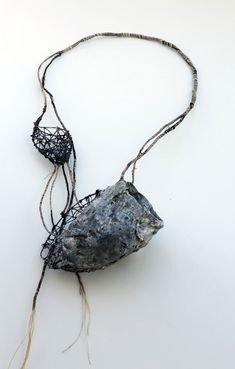 Akis Goumas Necklace: Transmission of a form - Copper, PVC, threads, pigments, mixed techniques