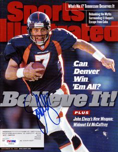 John Elway Autographed Sports Illustrated Magazine Denver Broncos PSA/DNA #X59916