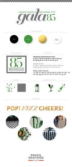 Branding board: Gala 85. || www.pencilshavingsstudio.com