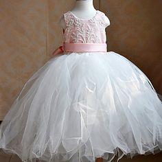 Kids' Pretty Lace Beading Tulle Ballet Dance & Party Tutu Dress More Colors – USD $ 33.19