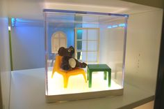 This LED display box is great for highlighting our HUSET doll furniture, or your kids' most recent art project!