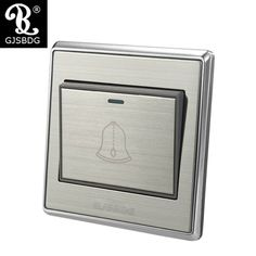 GJSBDG Wall Switch Panel Self Reset Socket Panel 220V 10A - Doorbell Switch