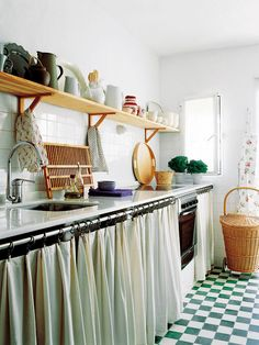 Cortinas decorativas para la cocina | Decoración