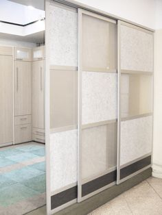Glide Screen Doors with Frosted, Custom & Wood Laminate panels