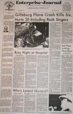 Lynyrd Skynyrd Plane Crash on October 20, 1977. Details & Informaton