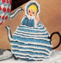 Doll Tea Cosy and 2 more Cosies Digital by ClassicVintageLady