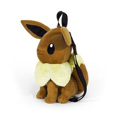 Amazon.com: Pokemon Boys' Evee Plush Backpack, Brown: Clothing