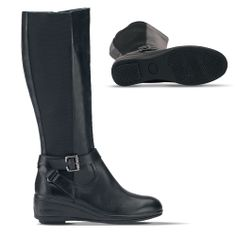 Check out these shoes from Gravity Defyer.  Women's Vianbell Black Dress Boots | GravityDefyer.com