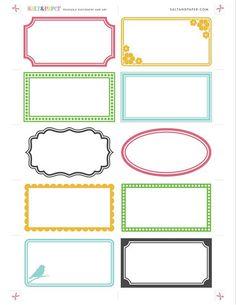 Printable labels from saltandpaper.com by saltandpaperdotcom, via Flickr