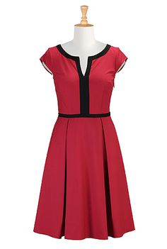 Contrast trim twill dress- Dry clean only, so it's a bit less practical, but still VERY pretty.