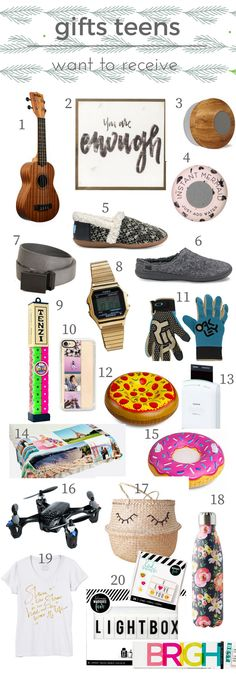 Give gifts teens want to receive!  Something at every price point and for every interest.