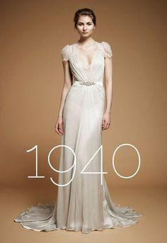 vintage wedding dress 1940s