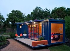 Beautiful modern shipping container home