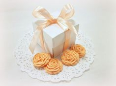 Wedding Favor Candy Boxes AND 50 Edible Sugar by LenasCakes, $69.95