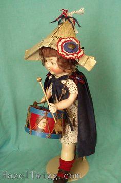 Hazel Twigg No 45 Drummer Girl Liberty Vintage Patriotic Composition Doll | eBay