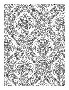 myriad shapes and designs create a detailed complex coloring page with a regal pattern and - Coloring Pages Designs Shapes