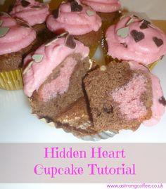 Hidden Heart Cupcakes Tutorial for #valentines